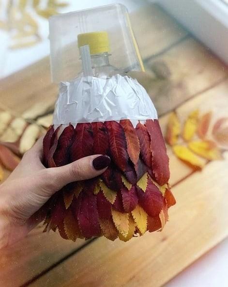 Совушка из листьев: идея для осеннего творчества
