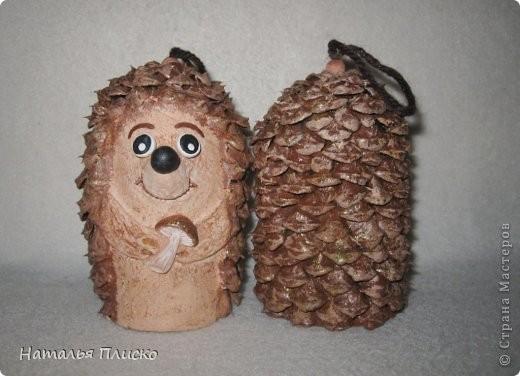 Ёлочные игрушки в виде ёжиков