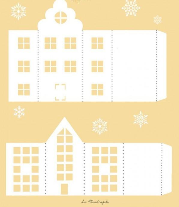 Светящиеся домики из бумаги