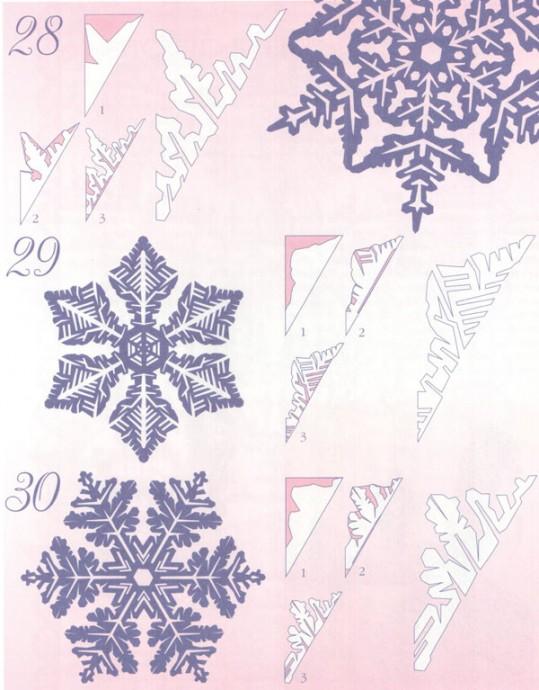 Прocтые схемы красивых снежинок 4