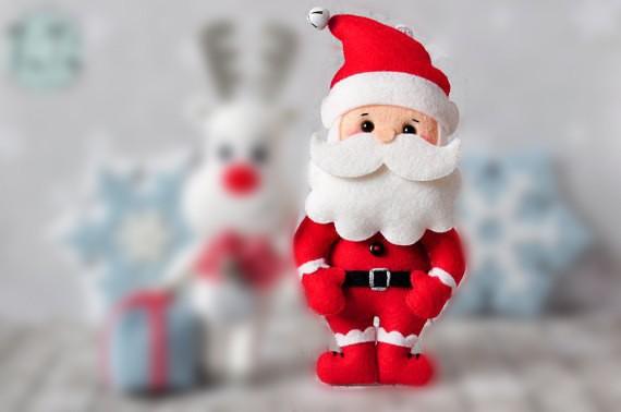 Игрушки из фетра на елочку: Дед Мороз