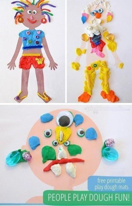 Интересные игры с детьми из пластилина