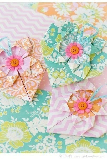 Оригами в виде сердечка