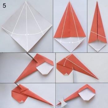 Снегурочка в технике оригами 5