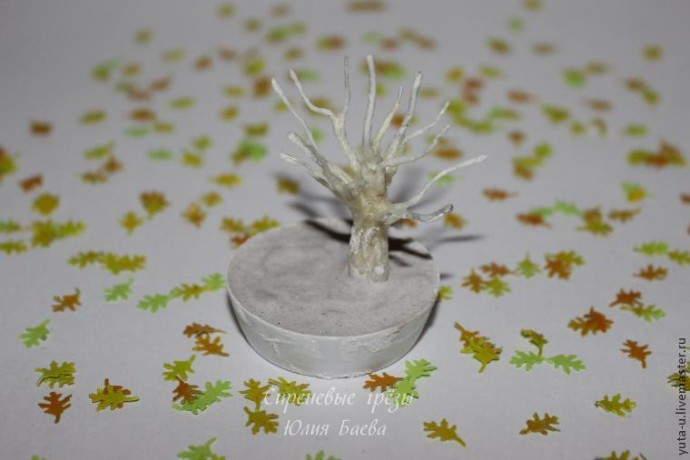 """Создаем миниатюру """"Осеннее дерево"""""""