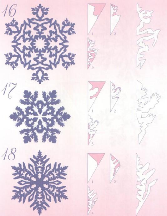 Прocтые схемы красивых снежинок 8