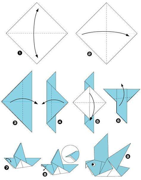 Птицы в технике оригами