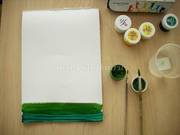 Рисуем белую березку