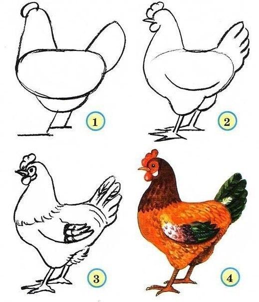 Рисуем птиц 3