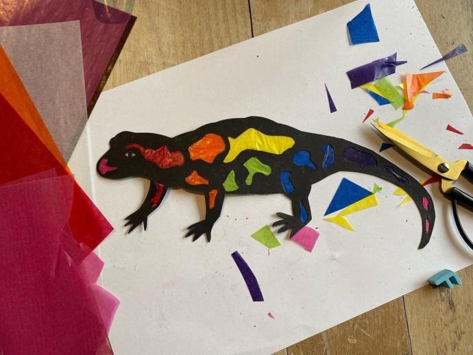 Яркие осенние саламандры