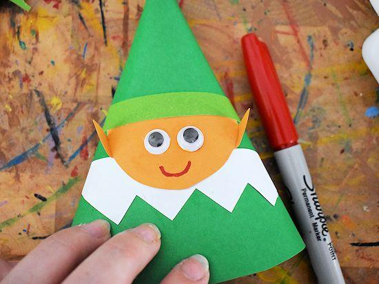 Лесной гном из цветной бумаги 5
