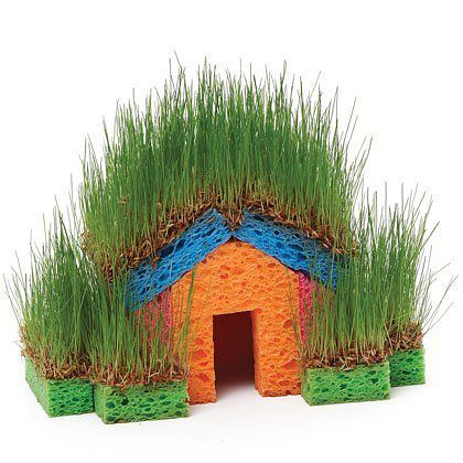 Травяной домик
