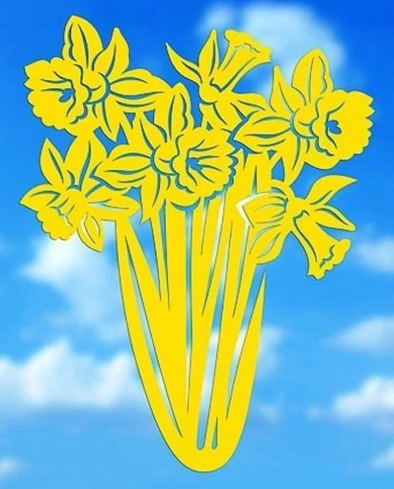 Весенние цветочные вытынанки