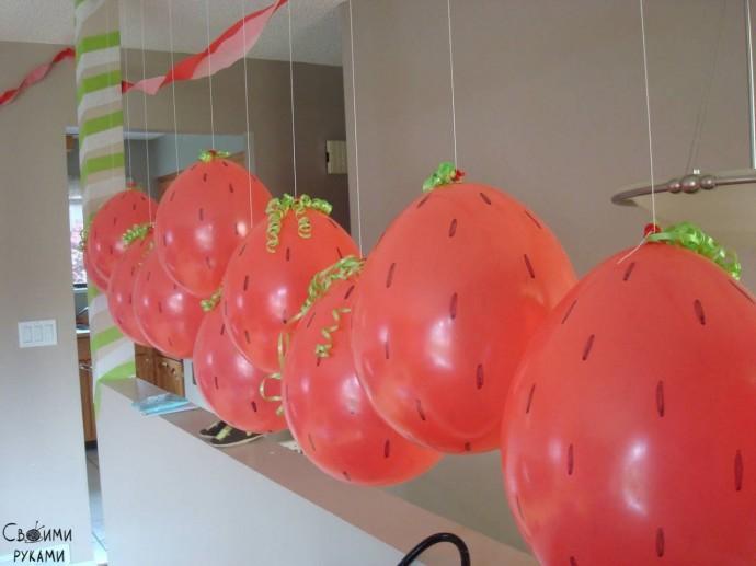 Воздушные фрукты и ягоды