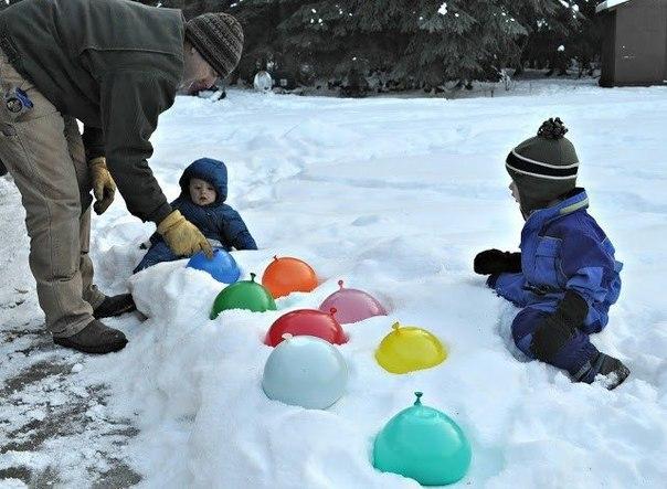 Творческие игры на морозе 1