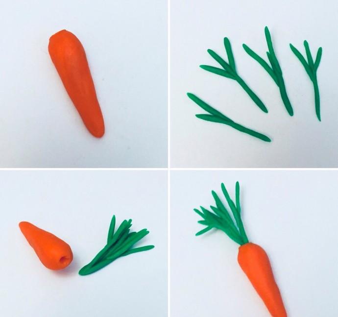 Лепим с детками овощи