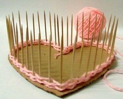 Плетеная шкатулка на жесткой основе