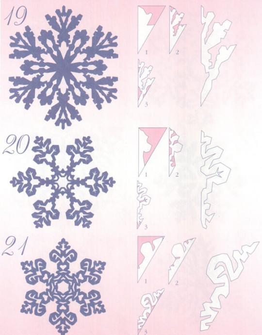 Прocтые схемы красивых снежинок 2