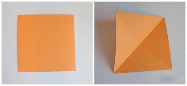Звёздочка из бумаги 2