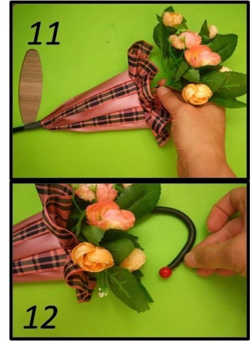 Цветочный зонтик: мастер-класс