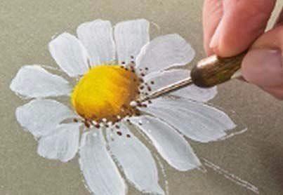 Рисуем с детьми ромашку