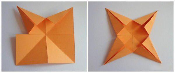 Звёздочка из бумаги 3