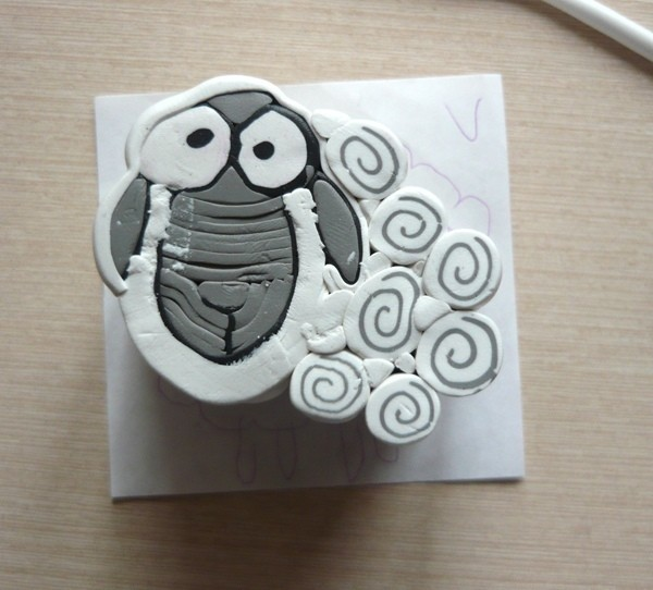 Овечки из полимерной глины
