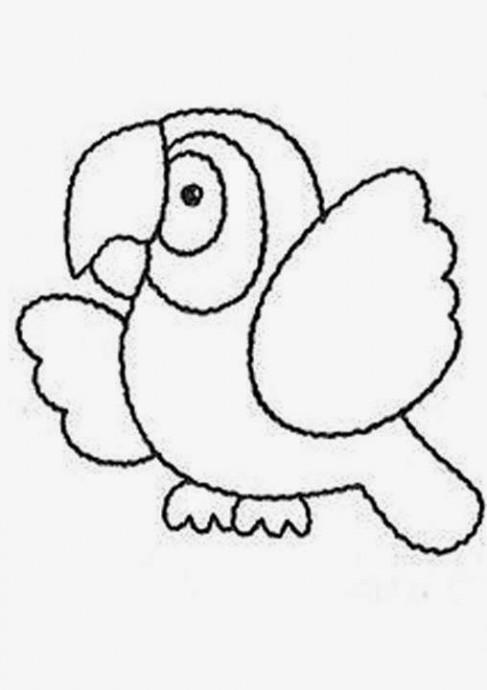 Попугайчики из фетра