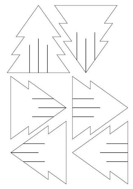 Простая идея для ёлочки из бумаги