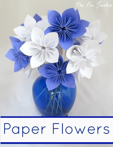 Букетик цветочков-оригами