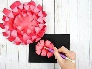Хризантемы из бумаги 6