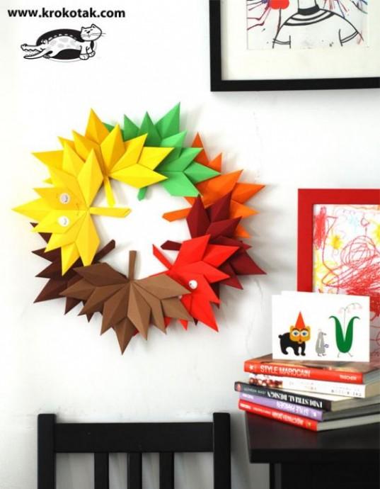 Осенние листочки из бумаги