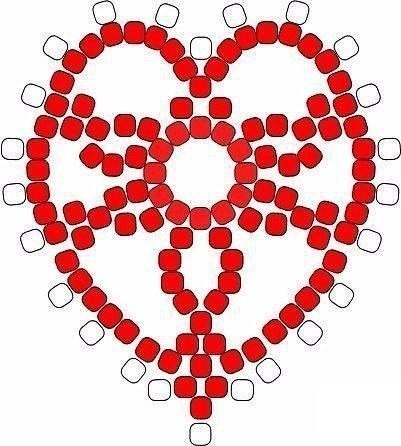 Сердечки из бисера