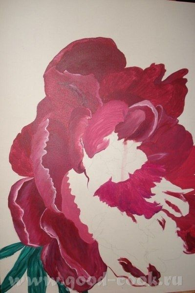 Цветок масляными красками