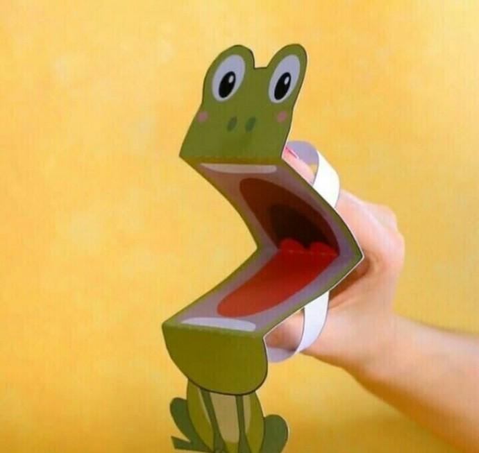 Игрушки из бумаги с открывающимся ртом