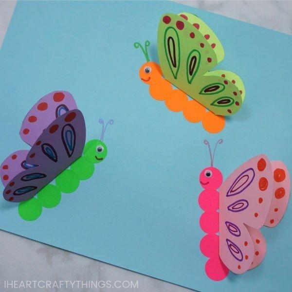 Яркие объемные бабочки