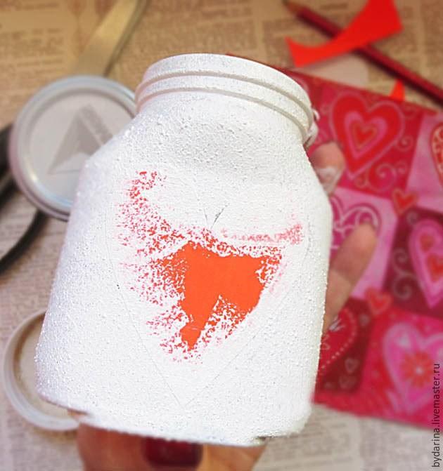 Мастерим баночку с пожеланиями на День святого Валентина
