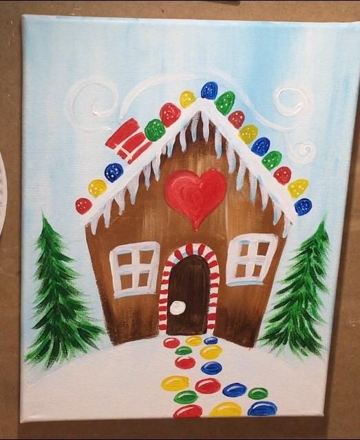 Рисуем пряничный домик