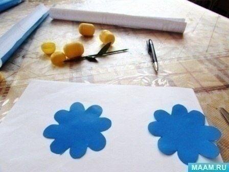 Цветочки из яиц от киндер-сюрпризов 3