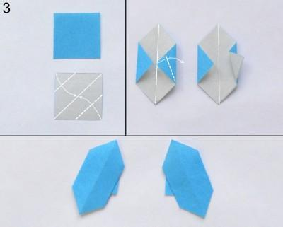 Снегурочка в технике оригами 3