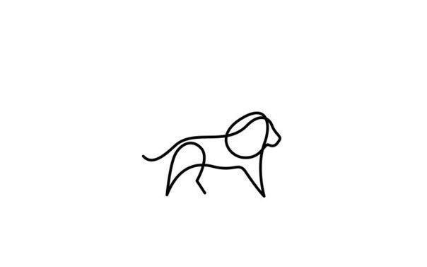 Животные, нарисованные одной линией 5