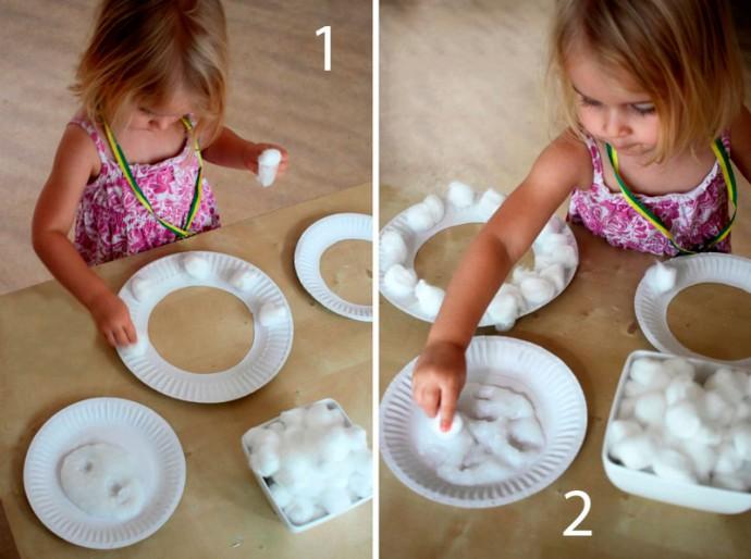 Как ребенку самому себе сделать маску овечки 1