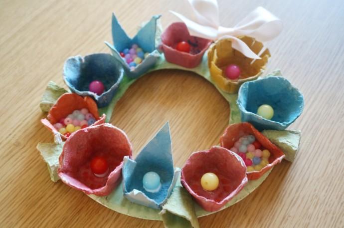 Поделки из коробок для яиц с детьми 4