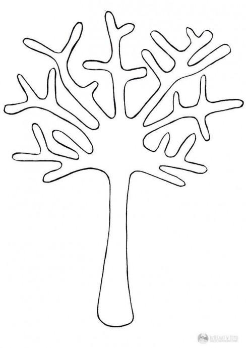 Дерево с кроной из тыквенных семечек