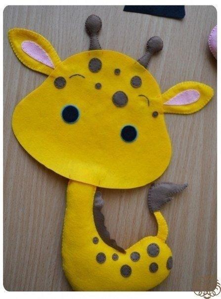 Жираф из фетра