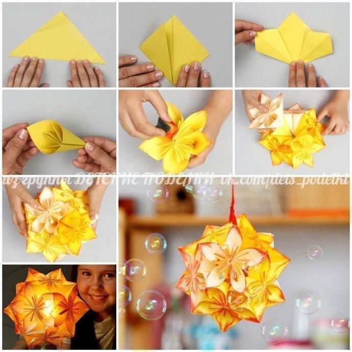 Цветочные шары-оригами