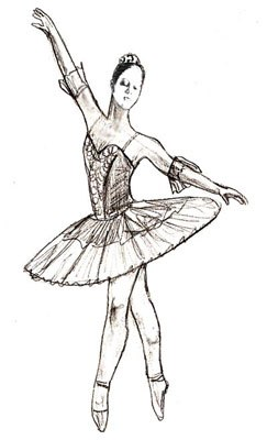 Рисуем балерину карандашом