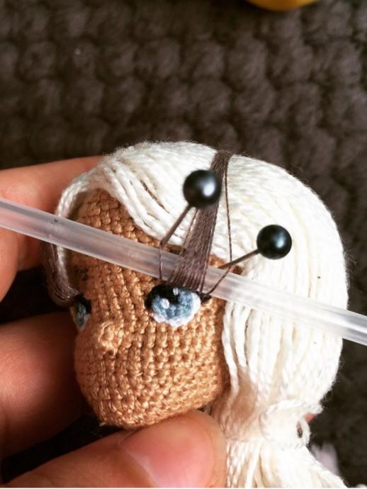 Как сделать реснички мягкой игрушке 2