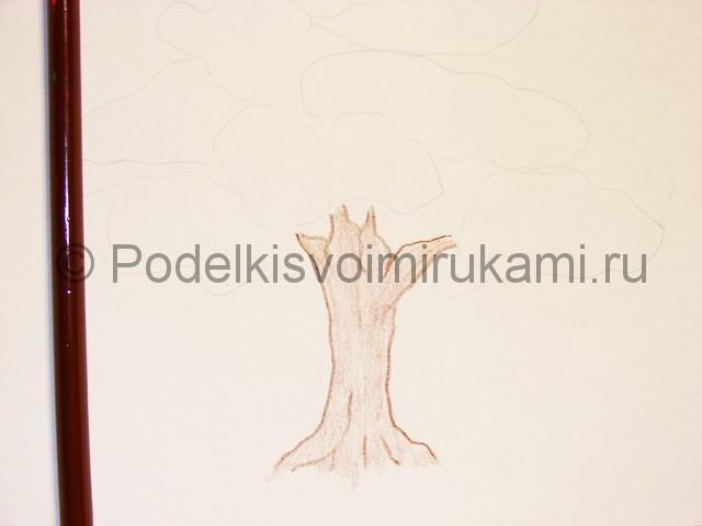 Рисуем с детками дерево