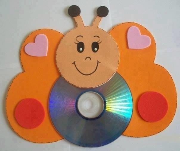 Поделки из СD-дисков